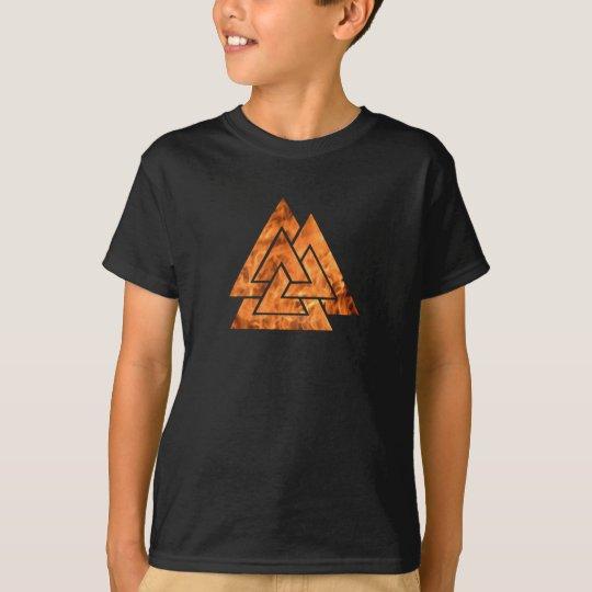 Burning Valknut T-Shirt