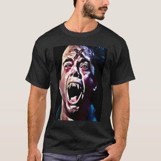 Burning Vampire Airbrush Art T-Shirt