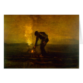Burning Weeds by Vincent van Gogh Card