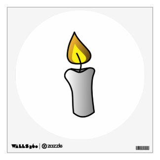 Burning White Candle Wall Decal