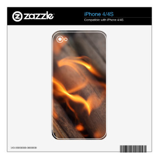 Burning wood branches skin for iPhone 4S