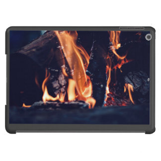 Burning wood iPad air cases