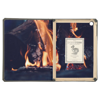 Burning wood iPad air case