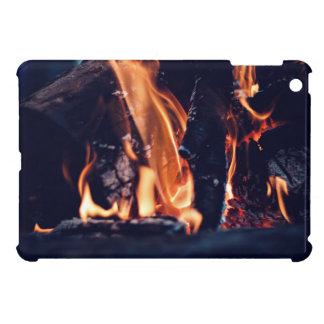 Burning wood iPad mini covers