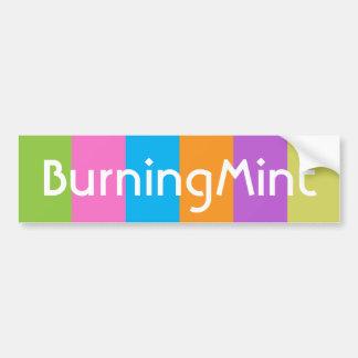 BurningMint Bumper Sticker by Gemma Li
