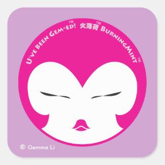 BurningMint U've Been Gem-ed! Square stickers