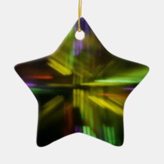 ¡BurningMint_U've sido Gema-ed! Ornamento de la Adorno Navideño De Cerámica En Forma De Estrella
