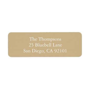Beach Themed Burnished Matte Gold Wedding Label