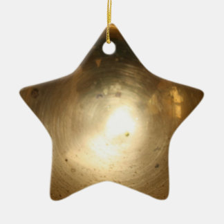burnished star Double-Sided star ceramic christmas ornament