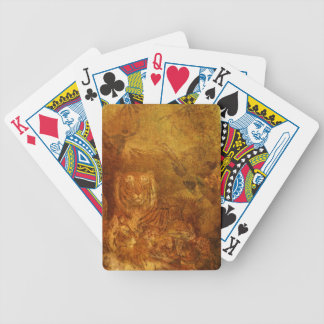Burnished Tigers Bicycle Playing Cards