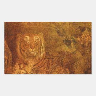 Burnished Tigers Rectangular Sticker