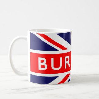 Burnley: Bandera británica Taza Básica Blanca
