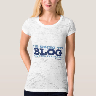 Burnout Fitted T's (Blog All Over) T-Shirt
