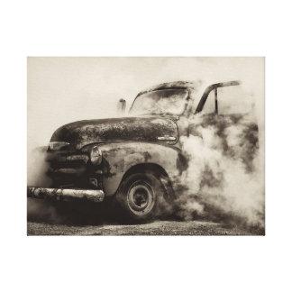 Burnout Pit Vintage Truck Canvas Print