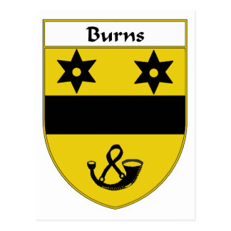 Burns Coat of Arms/Family Crest Postcard