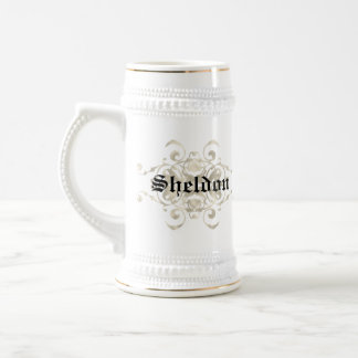 Burns Coat of arms-Personalize with Your name Beer Stein