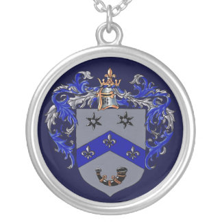 Burns Coat of arms Round Pendant Necklace