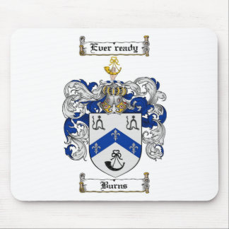 BURNS FAMILY CREST -  BURNS COAT OF ARMS MOUSE PAD