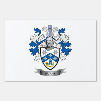 Burns Family Crest Coat of Arms Yard Sign