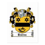 Burns Family Crest Post Cards
