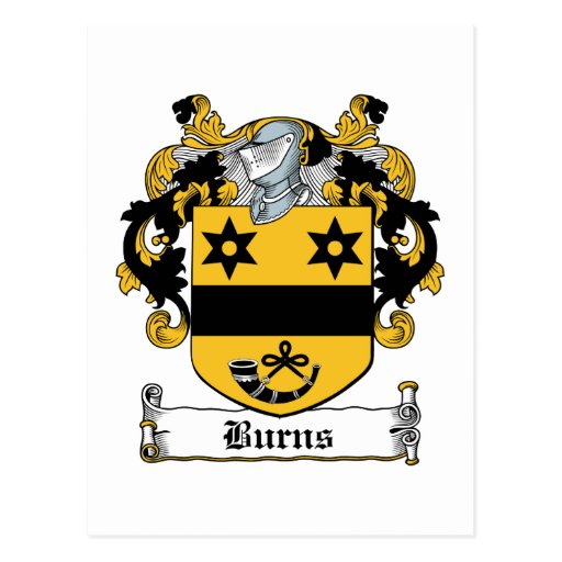 Burns Family Crest Post Cards