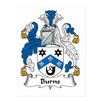 Burns Family Crest Postcard