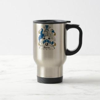 Burns Family Crest Travel Mug