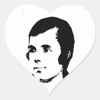 Burns Heart Sticker