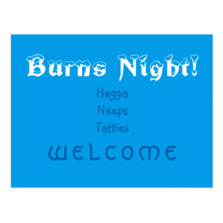 Burns Night! Postcard