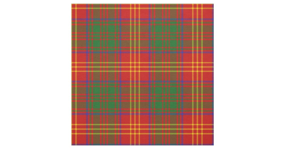 Burns Scottish Clan Tartan Fabric Zazzle Com