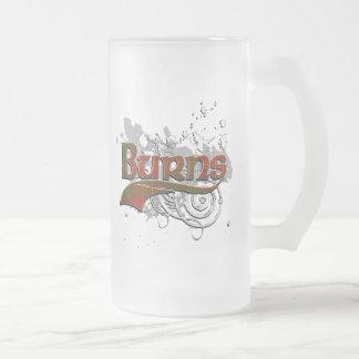 Burns Tartan Grunge 16 Oz Frosted Glass Beer Mug