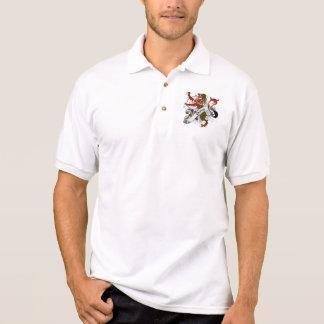 Burns Tartan Lion Polo Shirts