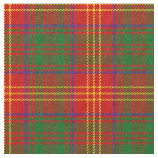 Burns Tartan Print Fabric
