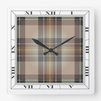 Burns Tartan Wall Clock
