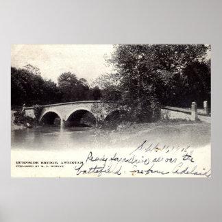 Burnside Bridge, Antietam MD Civil War 1906 Poster