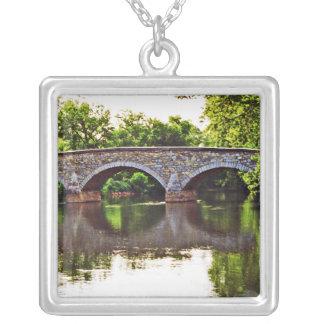 Burnside Bridge Antietam Square Pendant Necklace