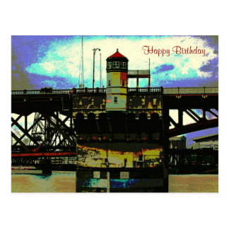Burnside Bridge Happy Birthday Postcard