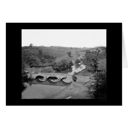 Burnside Bridge near Antietam 1862 Card