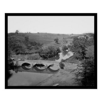 Burnside Bridge near Antietam 1862 Poster