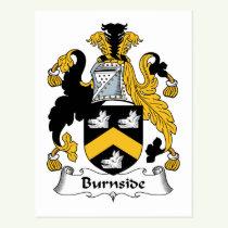 Burnside Family Crest Postcard