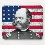 Burnside y la bandera americana alfombrillas de raton