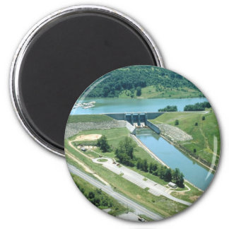 Burnsville Lake and Dam 2 Inch Round Magnet