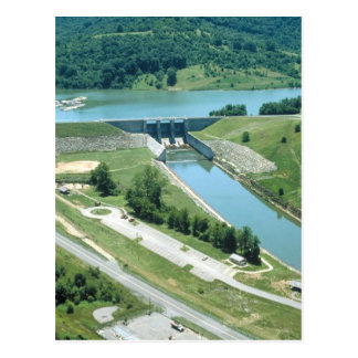 Burnsville Lake and Dam Postcard