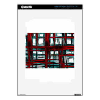 Burnt abstract decals for iPad 3