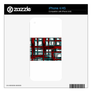 Burnt abstract decals for iPhone 4S