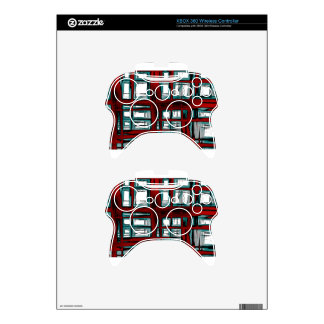 Burnt abstract xbox 360 controller skins