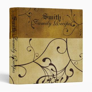 Burnt Butter Scroll Recipe Book Binders