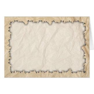 Burnt Edges on Crinkle Paper Card