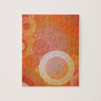 Burnt Faded Orange Retro Pattern Jigsaw Puzzle