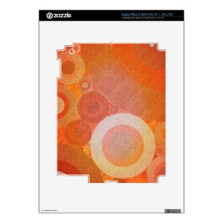 Burnt Faded Orange Retro Pattern Skin For iPad 3
